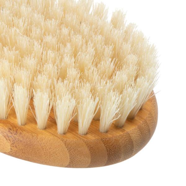 Massagebürste Bambus mit Wildschweinborsten