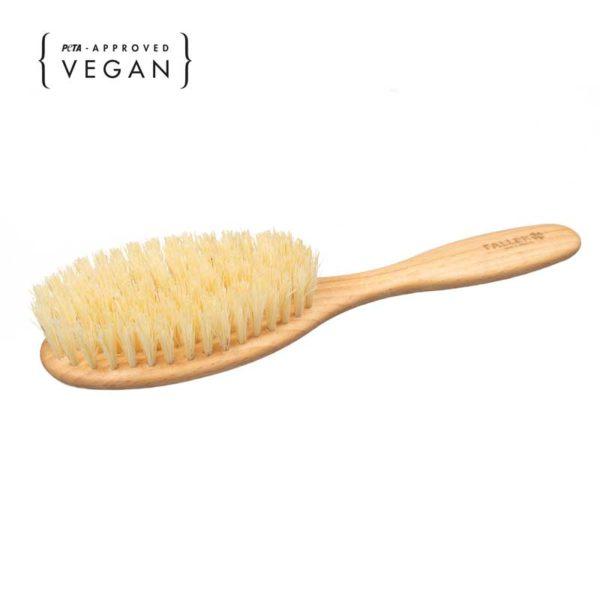 vegane Haarbürste aus Buchenholz und Kaktusfasern