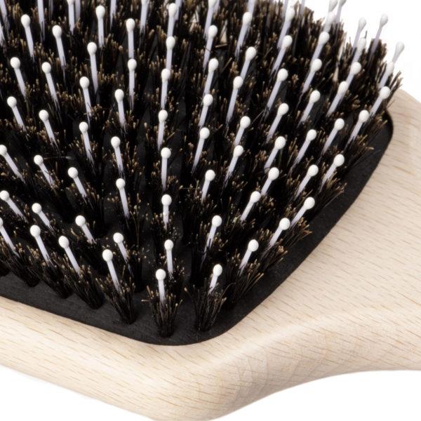 Haarbürste aus Buchenholz und Wildschweinborsten & Fristierstifte
