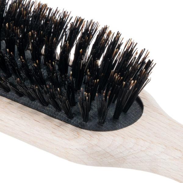 Buchenholz Haarbürste mit Wildschweinborsten