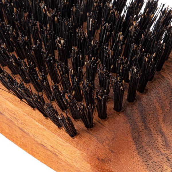 FALLERmen Set Männer Haarbürste aus Walnussholz und Wildschweinborsten