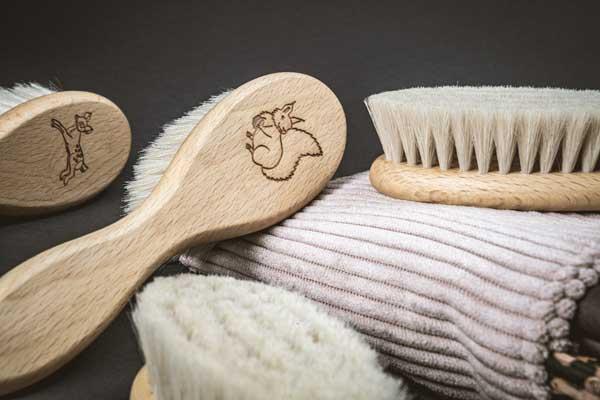 Baby-Haarbürste Ziegenhaare