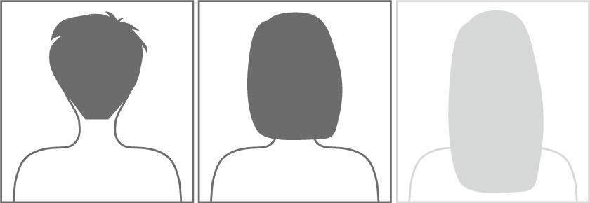 kurzes bis mittleres Haar