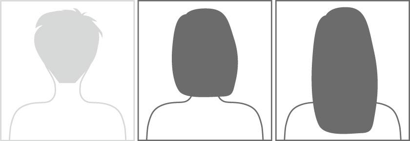 mittleres bis langes Haar
